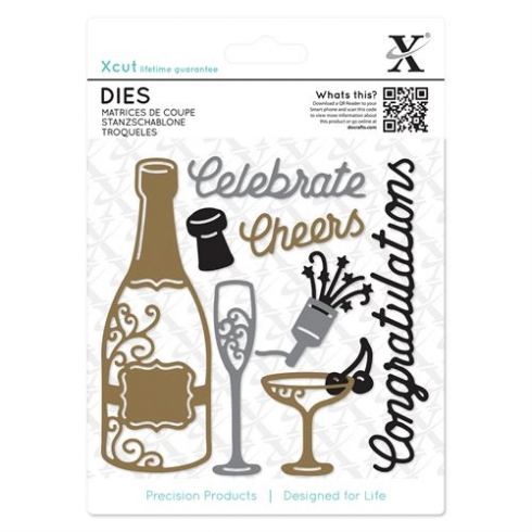 X-cut Dies (10pcs) - Champagne Celebration