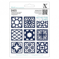 Docrafts Dies (9 pcs) - Moroccan Tiles