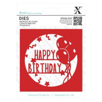 X-cut Dies - Happy Birthday Topper (1pc)