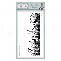 Phill Martin Dragonfly Hideout Pre Cut Rubber Stamp
