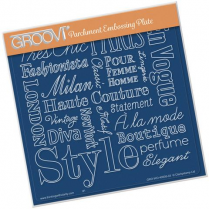 Groovi Elegant Expressions A5 Square Plate