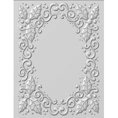 Creative Expressions Emboss Folder 3D Holly Swirls 5 3/4 x 7 1/2