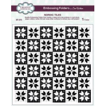 Creative Expressions Emboss Folder 8 x 8 Nordic Tiles