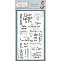 Phill Martin Essential Sentiments Clear Stamp Set
