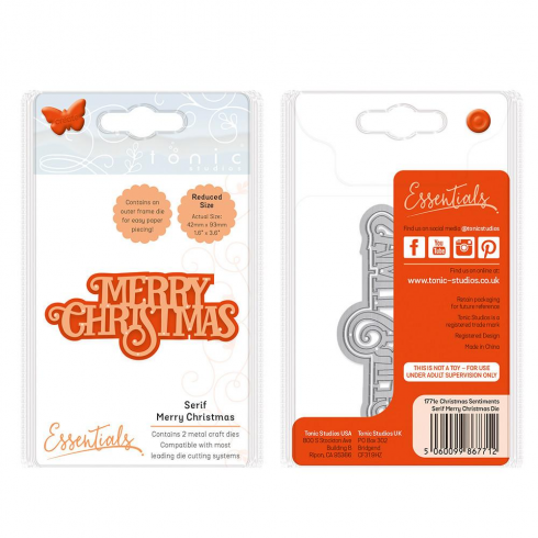 Tonic Studios Essentials - Christmas Sentiments - Serif Merry Christmas