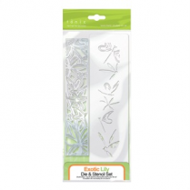 Tonic Studios Exotic Lily Die & Stencil Set
