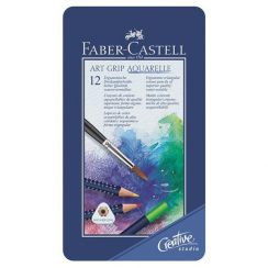 Faber-Castell Faber Castell Aquarelle Pencil Art Grip Wallet With 12 Pieces