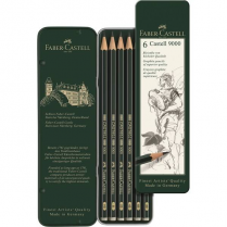 Faber-Castell Faber Castell Graphite Pencil 9000 Tin With 6 Pieces