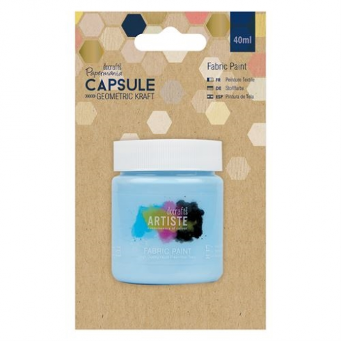 Docrafts Fabric Paint - Capsule - Geometric Kraft - Sky Blue