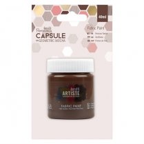 Papermania Fabric Paint - Capsule - Geometric Mocha - Brown