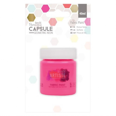 Papermania Fabric Paint - Capsule - Geometric Neon - Pink