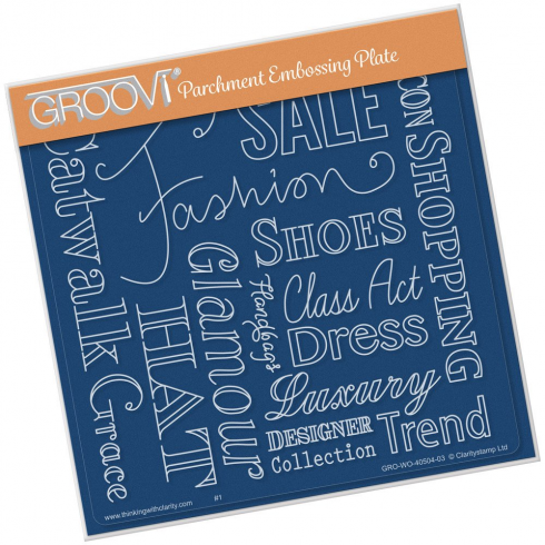 Groovi Fashion Phrases A5 Square Plate