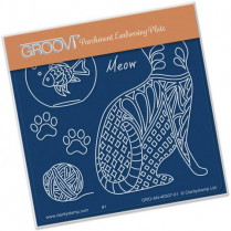 Feline Delights - Pattern Cat - Back - Groovi Baby Plate A6