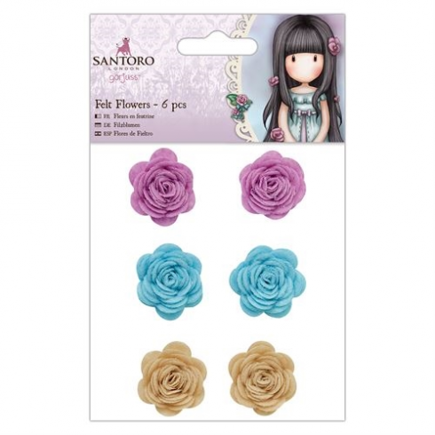 Docrafts Felt Flowers (6pcs) - Santoro