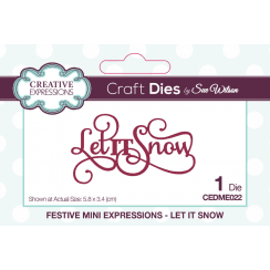 Creative Expressions Festive Collection Let It Snow