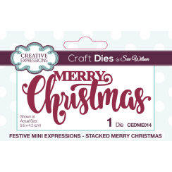 Creative Expressions Festive Collection Stacked Merry Christmas