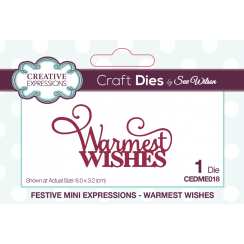 Creative Expressions Festive Collection Warmest Wishes