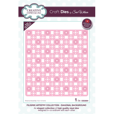 Sue Wilson Filigree Artistry Collection Diagonal Background