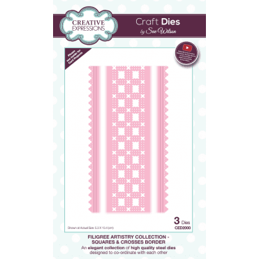 Sue Wilson Filigree Artistry Collection Squares & Crosses Border