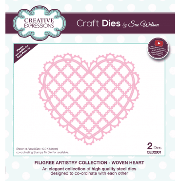 Sue Wilson Filigree Artistry Collection Woven Heart
