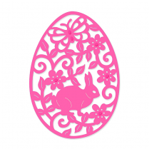 Sweet Dixie Filigree Bunny Easter Egg