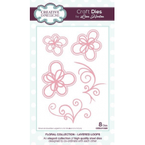 Creative Expressions Floral Collection Layered Loops Craft Die