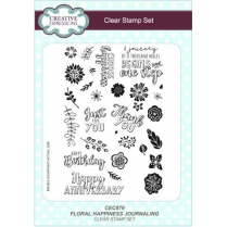 Creative Expressions Floral Happiness Journaling A5 Clear Stamp Set