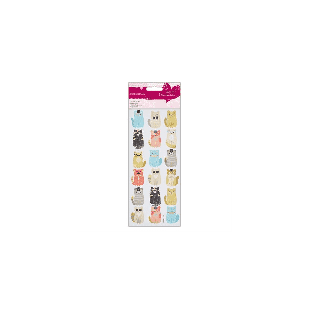 Do-Crafts Papermania Glitter Sickers Cool Cats for cards and crafts