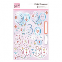 Anitas Foiled Decoupage - 30th Birthday