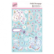 Anitas Foiled Decoupage - 50th Birthday