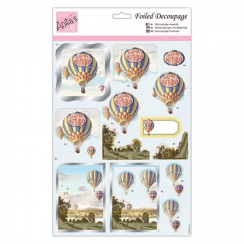 Anitas Foiled Decoupage - Birthday Balloons