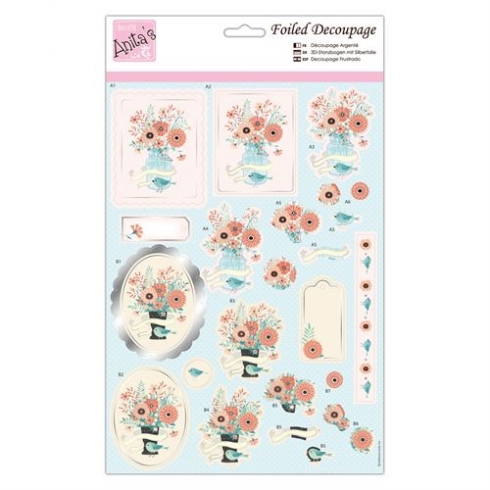 Anitas Foiled Decoupage - Blooming Delight