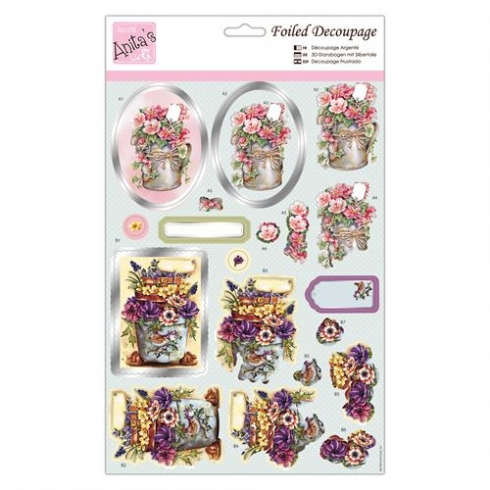 Docrafts Foiled Decoupage - Blooming Delight