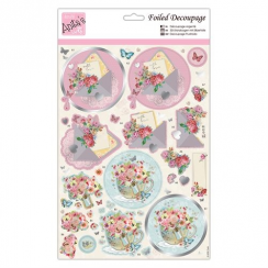 Anitas Foiled Decoupage - Blooming Mail