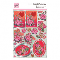 Anitas Foiled Decoupage - Champagne & Roses