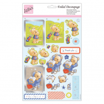 Anitas FOILED DECOUPAGE - CHLLIED OUT BEAR