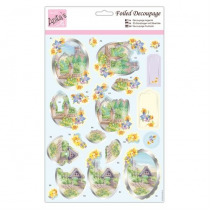 Anitas Foiled Decoupage - Church in Spring