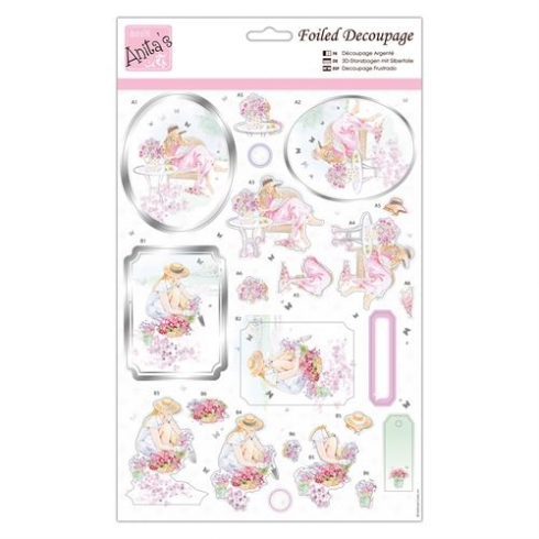 Docrafts Foiled Decoupage - Collecting Flowers