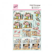 Docrafts Foiled Decoupage - Cosy Cats
