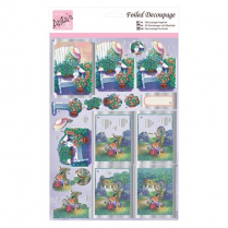 Anitas Foiled Decoupage - Cottage Garden (2)