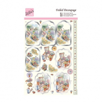 Docrafts Foiled Decoupage - Country Cottage