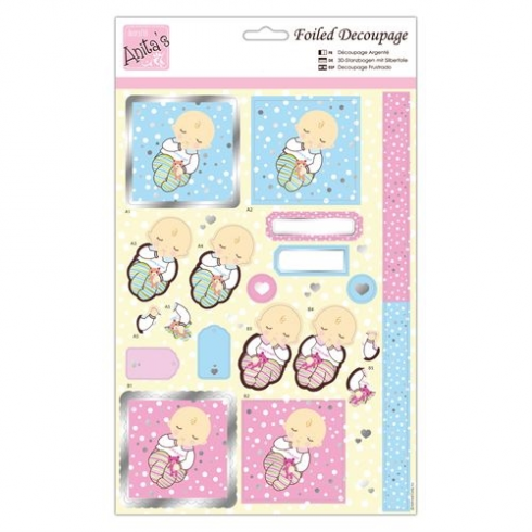Docrafts Foiled Decoupage - Extra Sweet