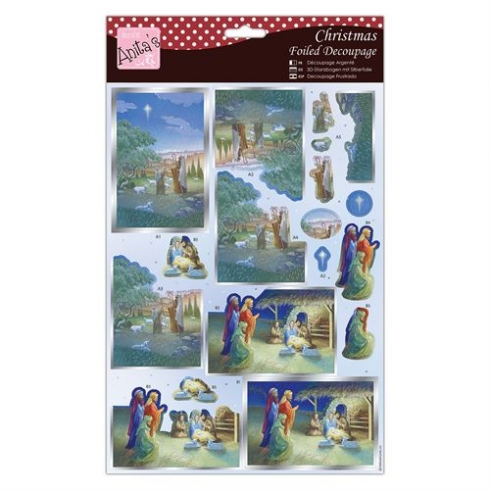 Docrafts Foiled Decoupage - Nativity Scene
