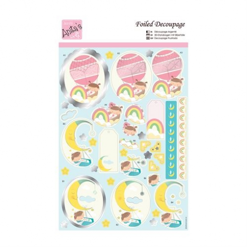 Docrafts Foiled Decoupage - New Born Cribs