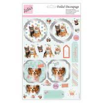Anitas FOILED DECOUPAGE - PARTY ANIMALS