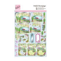 Docrafts Foiled Decoupage - Relax in the Garden