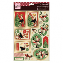 Anitas Foiled Decoupage - Retro Christmas