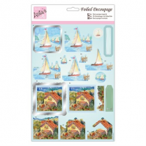 Anitas Foiled Decoupage - Sail Away