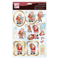 Anitas Foiled Decoupage - Santas Forest Friends