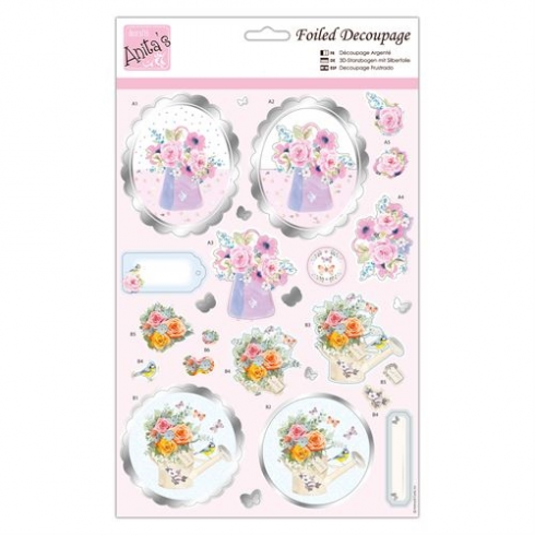 Docrafts Foiled Decoupage - Say It With Flowers